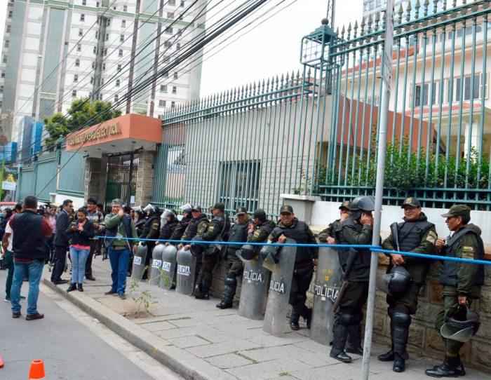 PREDIOS DEL TSE CON IMPORTANTE RESGUARDO POLICIAL.
