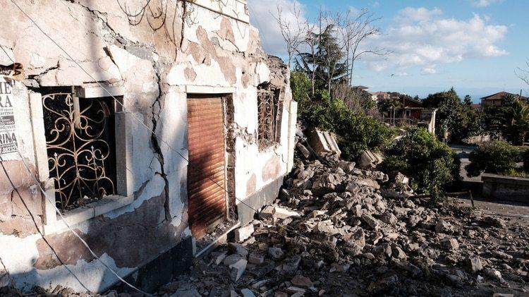 La destrucción de zonas en Sicilia (AFP)