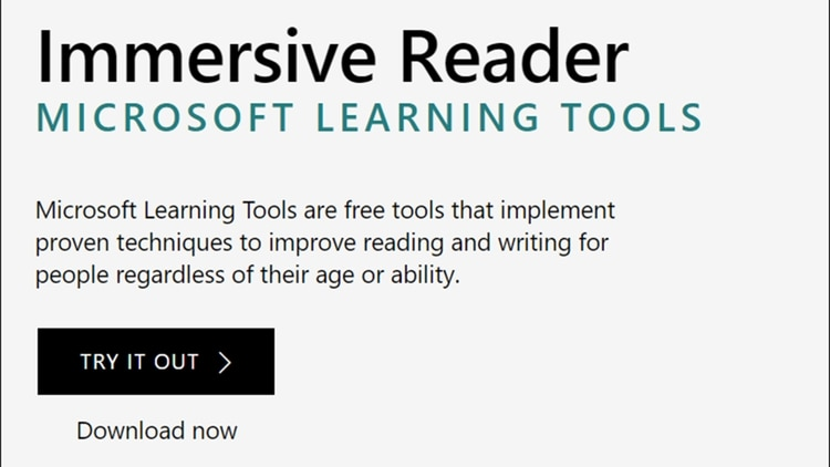 Herramienta Inmersive Reader de Microsoft