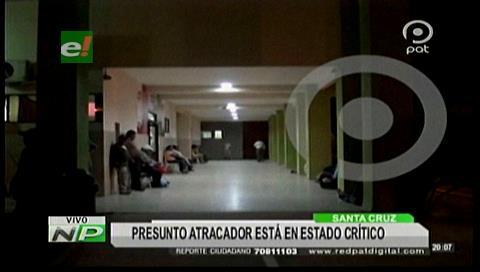 Presunto atracador de librecambista está en estado crítico