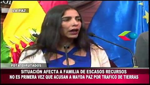 """Diputada Montaño: """"No es la primera que Mayda Paz es acusada de tráfico de tierras"""""""