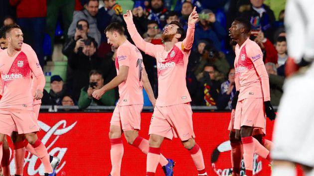 Getafe-Barcelona: el equipo de Messi hace su primera presentación del año