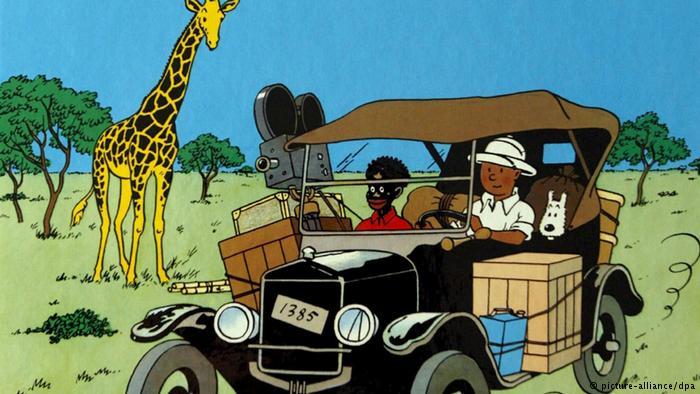 Tintín y Milú en el Congo generó críticas por sus estereotipos colonialistas y racistas