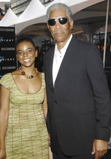 Morgan Freeman y la nieta de su primera esposa, E