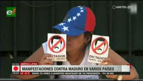 Manifestaciones contra Maduro en varios países