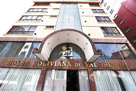 La Paz. Frontis de las oficinas de la Bolsa Boliviana de Valores (BBV).