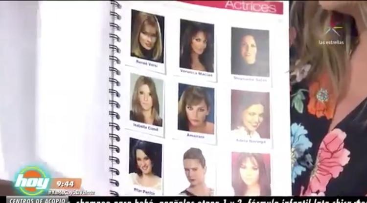 """En el programa """"Hoy"""" de Televisa mostraron un catálogo de actrices, pero negaron que promoviera la prostitución (Foto: Captura Televisa)"""
