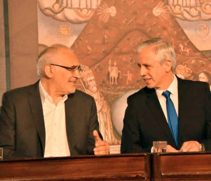 Carlos Mesa y Álvaro García, juntos