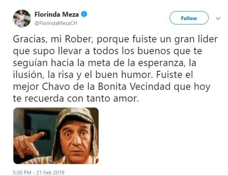 """El mensaje de Florinda con motivo del cumpleaños de """"Chespirito"""""""
