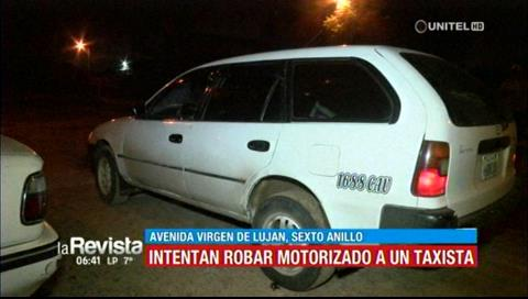 Intentan robar motorizado a un taxista