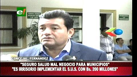 """Concejal Fernández: """"El SUS es un mal negocio para los municipios"""""""