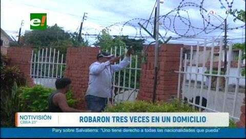 Delincuentes roban por tercera vez en un domicilio en Urbarí