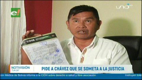 Cidob pide a Chávez someterse a la justicia