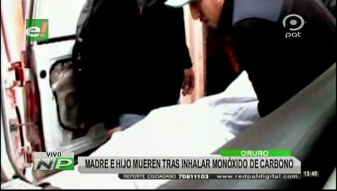 Oruro: Madre e hijo mueren por fuga de gas