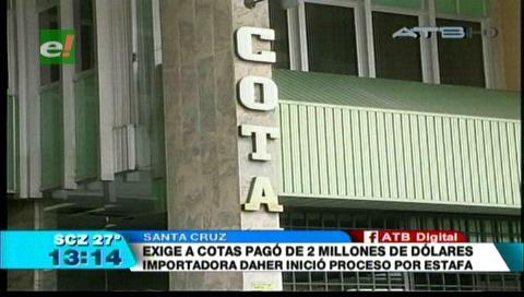 Alejan a 6 empleados por robo de $us 7 millones en Cotas y Daher se querella