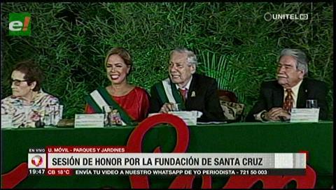 Alcaldía rindió homenaje a Santa Cruz de la Sierra