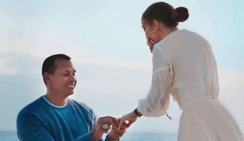 Alex Rodriguez, en la pedida de mano a Jennifer Lopez.