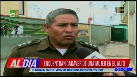 Hallan cadáver de una mujer en El Alto; FELCV investiga