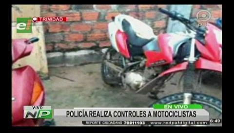 Plan Impacto: Policía realiza controles a motociclistas para evitar hechos delictivos