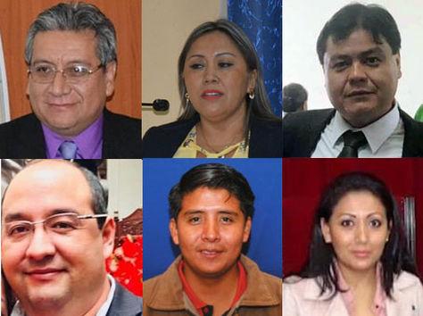 Los personeros del Órgano Judicial y dos implicados en el caso Montenegro.