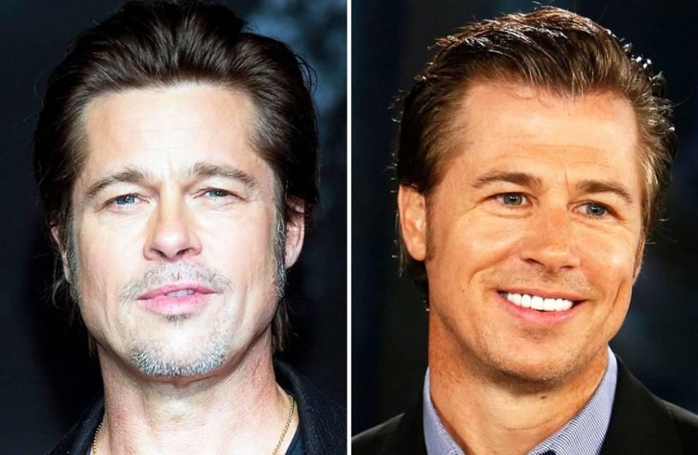 Brad Pitt (izquierda) y su hermano pequeño Douglas.