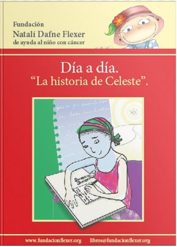 """""""Día a Día, la historia de Celeste"""" es el nombre del libro que publicó la joven."""