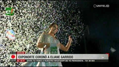 Eliane Garrido es coronada como reina de la Exponorte