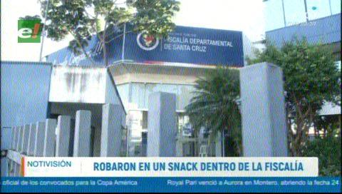 Delincuentes 'vaciaron' una tienda dentro de la Fiscalía cruceña