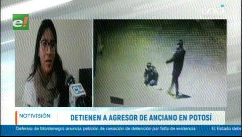 Potosí: Justicia ordena la detención preventiva del joven que golpeó a un anciano