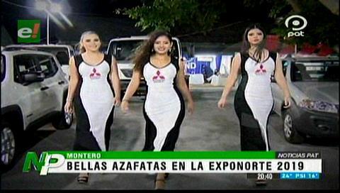 Arrancó la Exponorte 2019, bellas azafatas en la muestra ferial