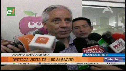 García Linera dice que Almagro visitará el lugar donde vivía Evo en el Chapare