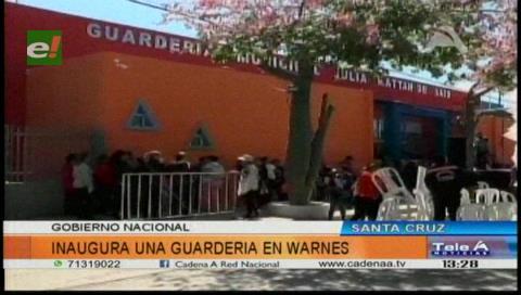 Gobierno inaugura Guardería Municipal en Warnes