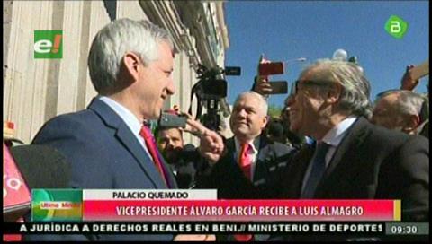 Vicepresidente recibe al Secretario General de la OEA en el histórico Palacio Quemado de Bolivia