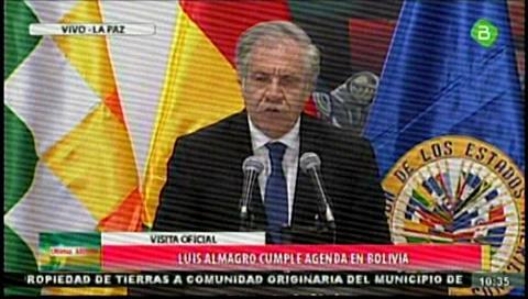 Almagro: 'Decir que Evo no puede participar, eso sería discriminatorio'