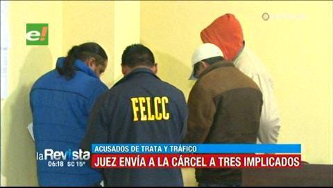 Juez envía a la cárcel a tres implicados acusados de trata y tráfico