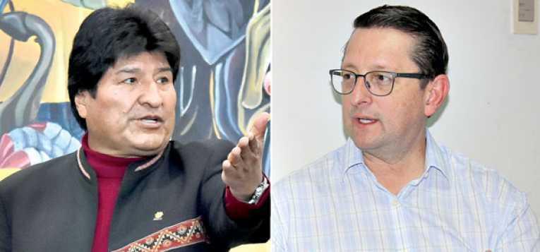 Duro cruce por Twitter entre Evo Morales y Oscar Ortiz