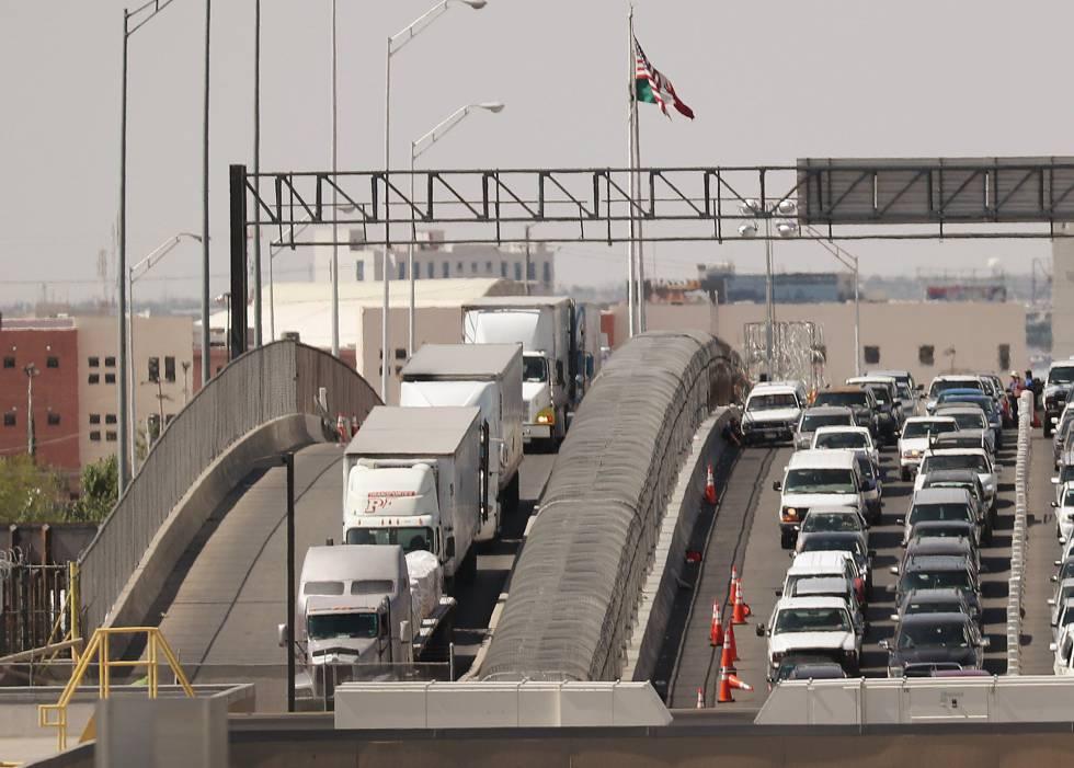 El puente fronterizo entre Ciudad Juárez y El Paso.