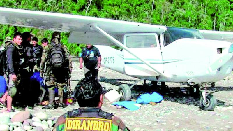 En 3 años, hallaron 10 avionetas con entre 200 y 500 kg de droga