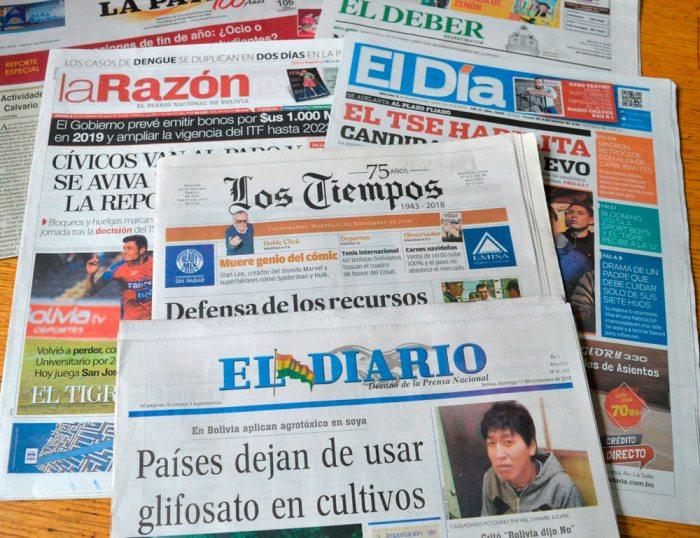 IMPRESOS DE BOLIVIA.