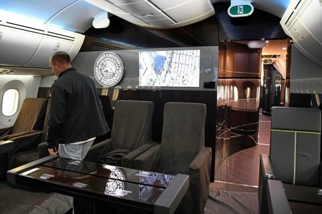 Detalle del interior del avión presidencial de México. (EFE)