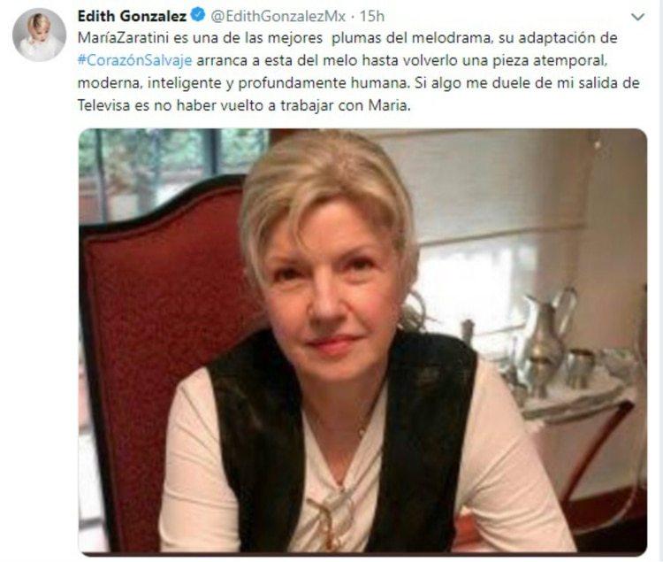 Twitter de Edith González