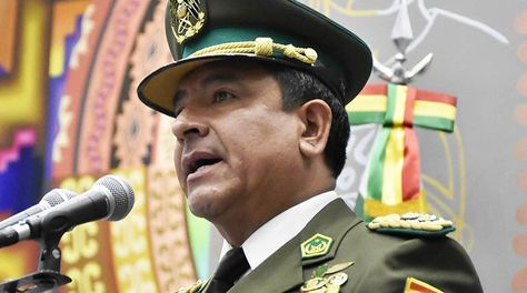 El comandante general de la Policía, general Yuri Calderón, en un acto anterior. Foto: APG - archivo