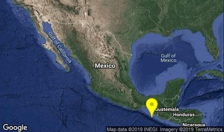 El Servicio Sismológico Nacional (SSN) reportó que este viernes han ocurrido varios sismos en Huixtla, comunidad de Chiapas, al sureste de México. El más alto fue de magnitud 5.0. (Foto: SSN)