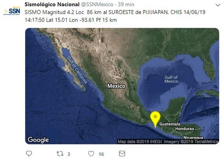 Tras este sismo, el SSN registró más movimientos telúricos o réplicas de menor intensidad. (Foto: captura de pantalla)