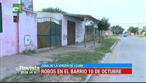Vecinos en emergencia por constantes robos en el barrio 10 Octubre