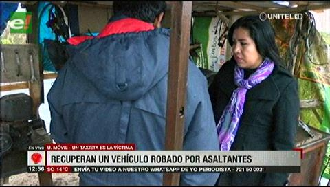 Recuperan un vehículo robado por asaltantes