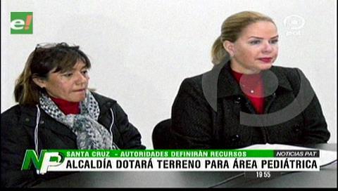 Alcaldía dotará terreno para la construcción del bloque pediátrico