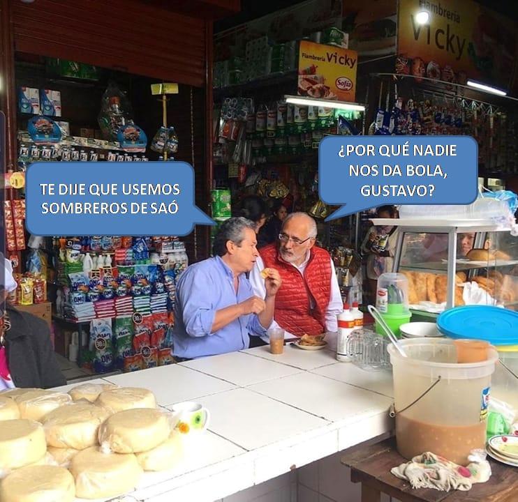 """Los memes de la """"campaña solitaria"""" de Mesa en Santa Cruz"""