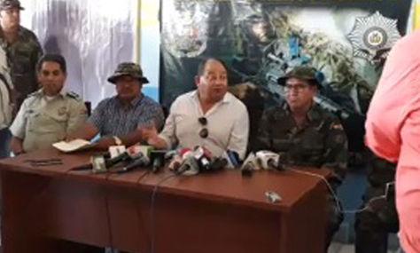 El ministro de Gobierno, Carlos Romero, durante su conferencia de prensa de este martes.
