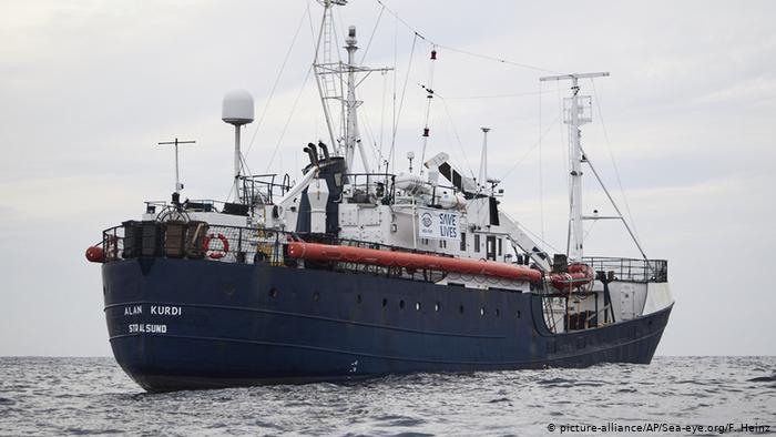 El barco Alan Kurdi, de la ONG Sea-Watch.
